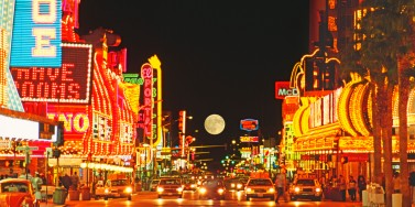 Fremont Street at night